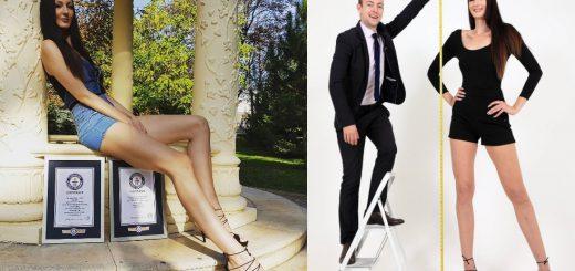 驚きの205cm!世界で最も足が長く高身長な女性モデルとしてエカテリーナ・リシナさんギネス認定