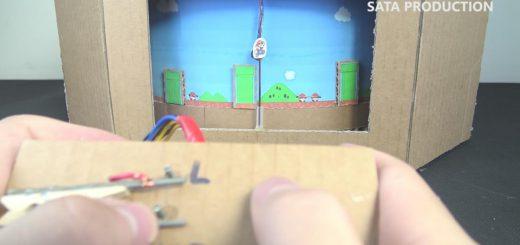 実際にプレイ可能!ダンボールでファミコンの『スーパーマリオ』を再現した猛者現る