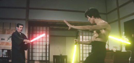 ブルース・リーがヌンチャク型のライトセイバーで戦う!?ジェダイとなった動画が話題