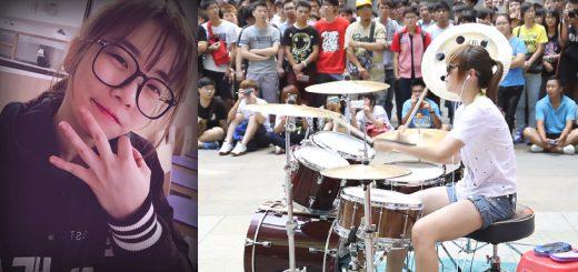 台湾の若き天才女性ドラマー!羅小白(S.white)さんの演奏動画がすごい