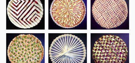 幾何学的な模様がずらり!美しすぎるパイのデコレーションまとめ