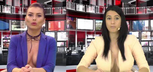 女性キャスターが素肌にジャケット姿!アルバニアの超セクシーなニュース番組「ZJARR TV」