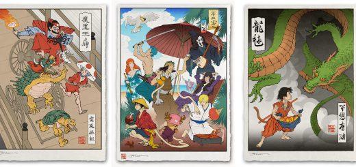 日本のアニメやゲームが浮世絵に!ジェッド・ヘンリーの『浮世絵ヒーローズ』が国内外で反響