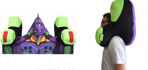 エヴァ初号機の肩を再現!意外と使い勝手が良さそうな「肩クッション」発売