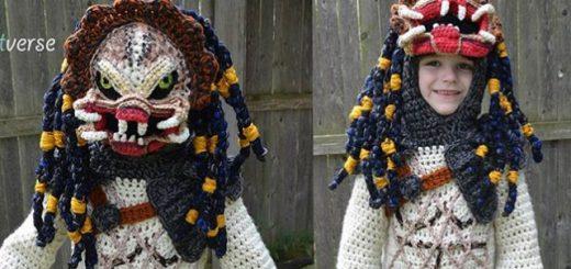 まさかのプレデター!お母さんが息子に編んだハロウィーン衣装がすごい