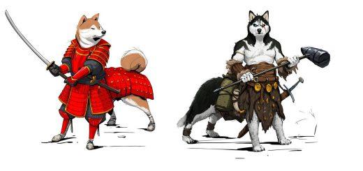 犬に鎧を着せたイラストがかっこいい!騎士や武者など個性的なキャラでいっぱい