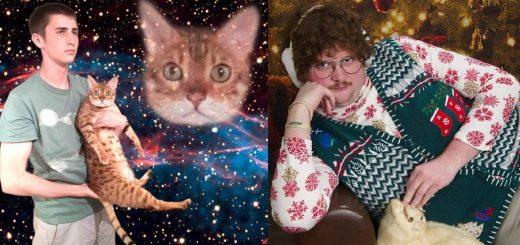 猫への愛がシュールな方向に!飼い主と猫のジワジワくる面白写真21枚