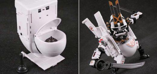 便器がなぜか侍に変形!?ロボット玩具「Dirty Man」がかっこいい
