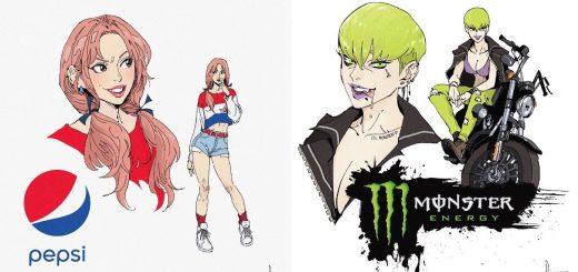 炭酸ジュースを擬人化!妄想キャラクターを描いたイラストが最高にPOP