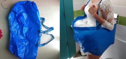 IKEAのバッグで解決!?結婚式でウエディングドレスを着てトイレへ行く方法