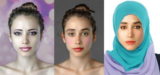 国によって「美人の定義」が全然違う!同じ人物写真を22カ国のカメラマンが加工