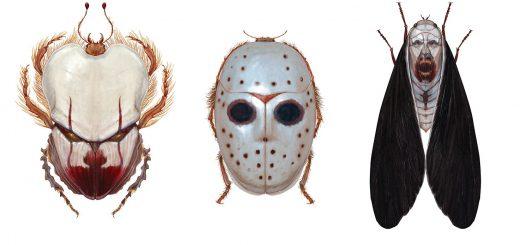 もしもホラー映画のキャラクターが昆虫だったら…妄想イラストが怖すぎる