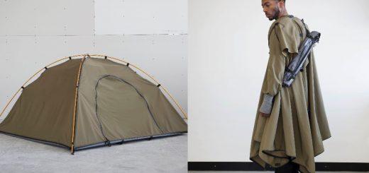 災害時はテントに早変わり!「着るテント」は究極のサバイバルファッション