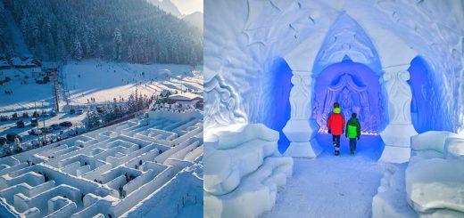 ポーランドにある巨大な雪の迷路「Snowlandia」が完全におとぎ話の世界