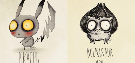 もしポケモンをティム・バートンが描いたら…妄想イラストがファンの間で話題