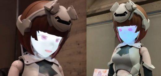 表情豊かなアニメ顔!人型の動くフィギュア「ハツキ」が完全に日本の未来