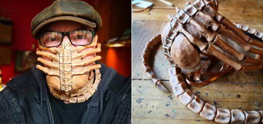 コロナウイルス対策!?映画『エイリアン』フェイスハガー型マスクを自作した猛者現る