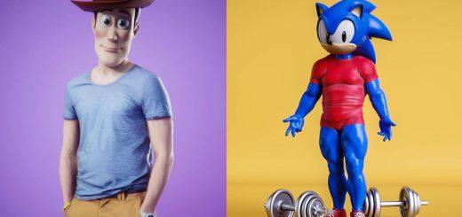 顔だけそのまま…人気キャラクターの体を超リアルにした妄想3D画像まとめ