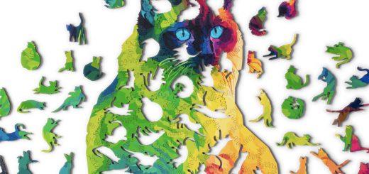 全ピースが猫!完成すると一匹の巨大な猫になるジグソーパズルが可愛い
