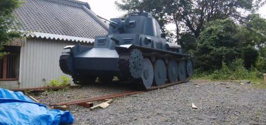 1/1スケールの38(t)軽戦車をDIYした猛者現る!自走も砲撃も可能でミリタリーファン驚愕