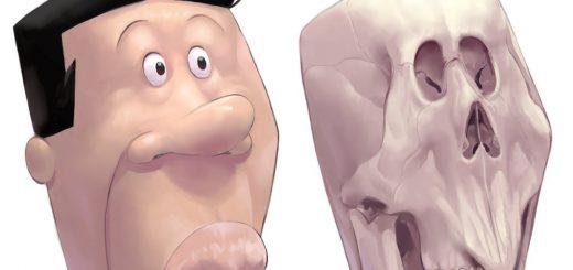 そこは骨だったのか!アナゴさんの頭骨を妄想で描いたイラストが衝撃の結果だと話題