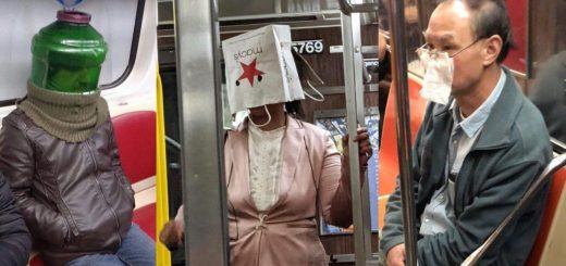 それでコロナ対策はできてるの!?世界の「とんでもマスク」で地下鉄に乗る人々写真まとめ